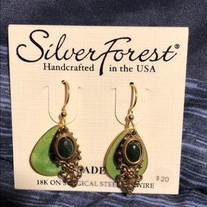 Silver Forest earrings. Never worn.